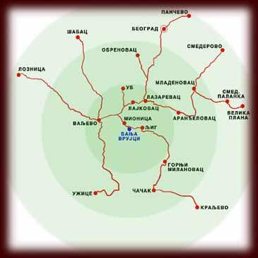 mapa banja vrujci Vrujci spa   Vila Sah   About Banja Vrujci mapa banja vrujci